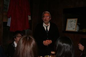 まずは、教授に栄転なされました笠井先生からありがたいお言葉を!