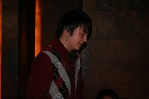 まずは及川研新入生のM1坂本君 これからよろしくお願いします!